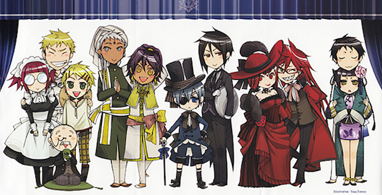 extrait Black Butler character guide T1